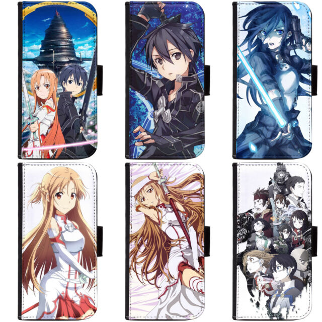PIN-1 Anime Sword Art Online SAO Phone Wallet Flip Case Cover for Apple Sony