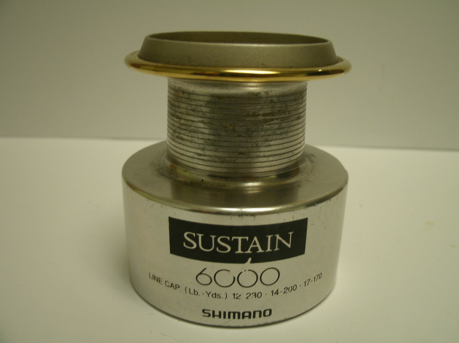 USED SHIMANO SPINNING REEL PART Spool - Sustain 6000 - Spool PART Assembly Lot  Q d5e0f8