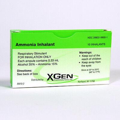 AMMONIA INHALANTS CAPSULES 10 Pack First Aid USA Item!
