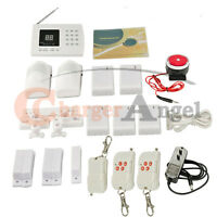 99 Zones Wireless Pir Home Security Burglar Alarm System Auto Dialing Dialer Lcd