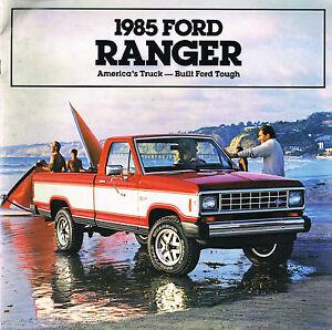 1985 Ford Ranger Pickup Truck Brochure W / Color Chart : Xl,xls ,xlt 4x4 Pick 50% De RéDuction