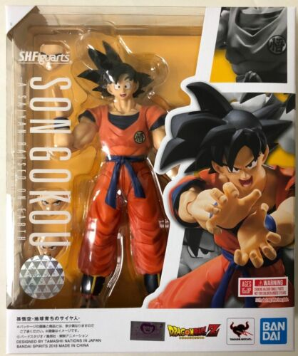 S.H Figuarts Son Goku A Saiyan Raised On Earth Dragon Ball Z Bandai IN STOCK