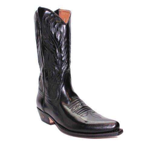 LOBLAN 194 Men/'s Patent Black Leather Western Cowboy Boots