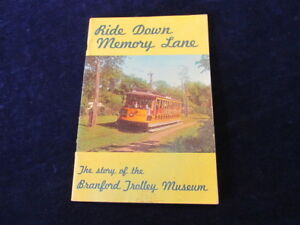 Vintage 1965 Branford Trolley Museum Bklt Ride Down Memory Lane Connecticut Q468