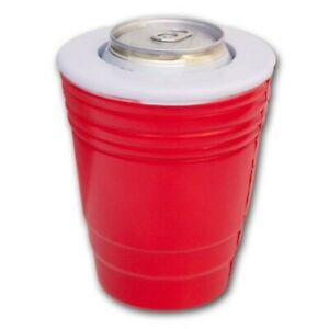 Rot-Solo-Tasse-Drink-Kooler-Koozie-Getraenke-Kuehler-Kann-Party-Haelt-Kalt-Isoliert