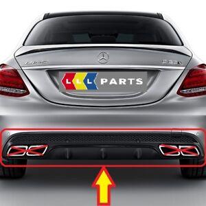 Nuevo-Genuino-Mercedes-Benz-MB-C63-W205-AMG-Parachoques-Trasero-Difusor-Negro
