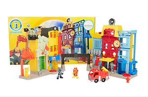 Fisher Price Imaginext interactivo del centro de la ciudad de rescate de juguete electrónico acción Tech