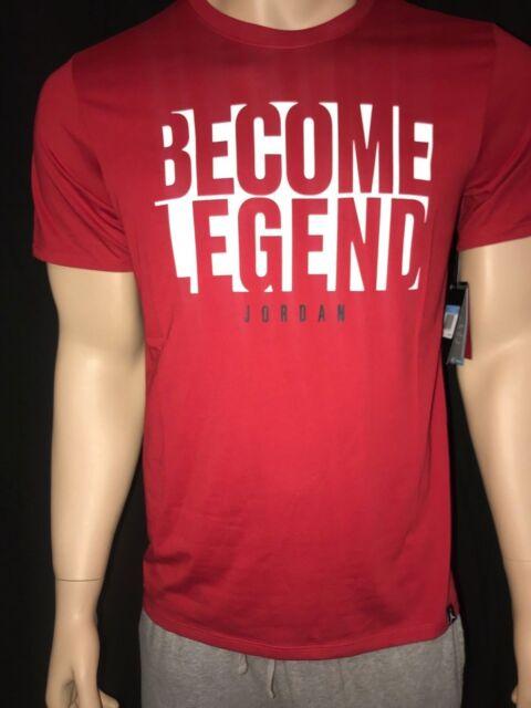 41418b01cd973a Nike Air Jordan Become Legend Mens Red Dri-fit Tee T-shirt XL 916150 ...