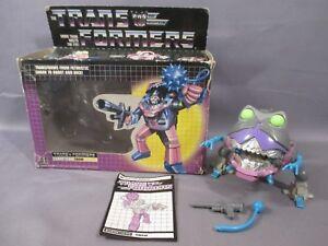 Transformers G1 Sharkticon 100% complet avec boîte * millésime * 1986 Hasbro gnaw