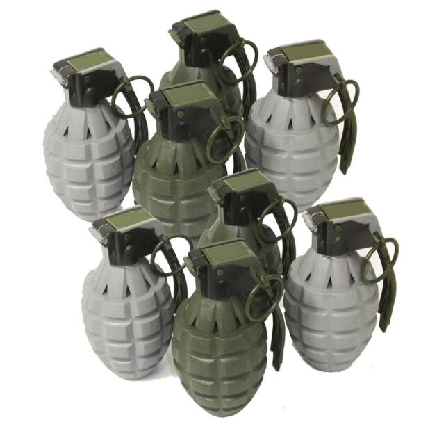 Toy Pineapple Hand Grenades Sound Effects Pack 8 Dummy Gray Ticking  Explosions