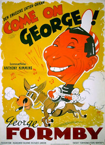 COME-ON-GEORGE-1939-George-Formby-EALING-STUDIOS-DANISH-POSTER