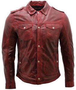Vintage Jeans Homme Cuir Bordeaux Chemise VesteEbay LqSMVzpUjG