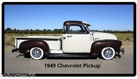 1949 Chevrolet Black & White Pickup Refrigerator Magnet