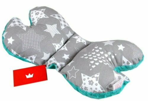 BUTTERFLY PILLOW ANTISHAKE HEAD SUPPORT//CAR SEAT DOUBLE SIDED STROLLER