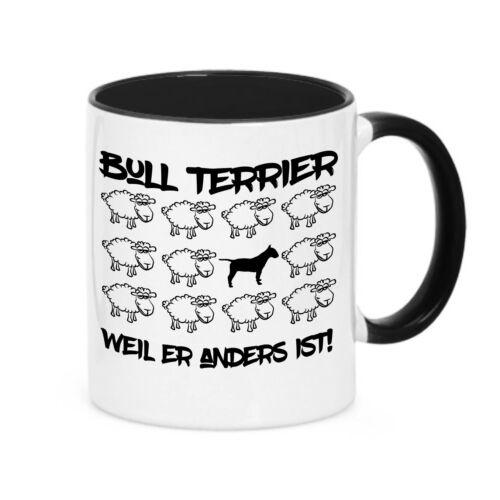 Tasse BLACK SHEEP BULLTERRIER Bull Terrier Hunde Schaf Kaffebecher Siviwonder