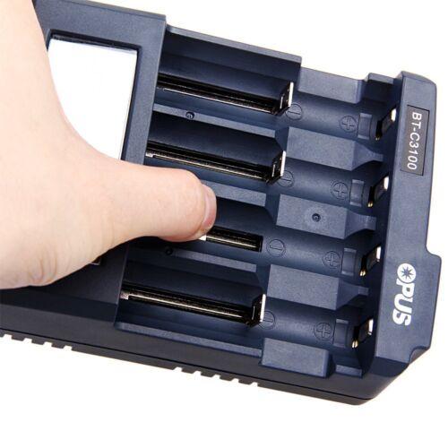 BT-C3100 Digital LCD 18650 18350 16340 26650 AAA IMR Li-ion Battery Charger US