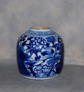 Details About Unusual Antique Chinese Blue White Porcelain Ginger Jar Flowers Landscape Dragon