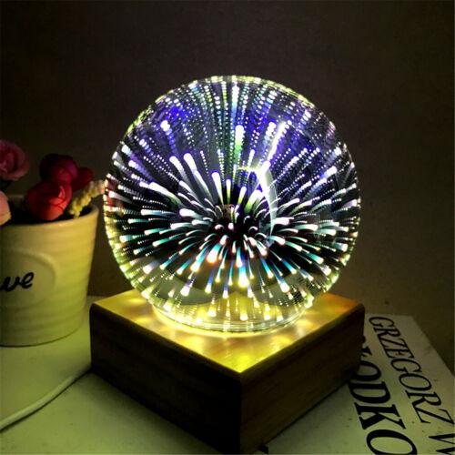 3D-Effekt Tischlampe Glaskugel Tischleuchte Nachtlicht Leuchte Licht Weihnachten