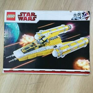 LEGO-INSTRUCTIONS-BOOKLET-ONLY-Star-Wars-Anakin-039-s-Y-Wing-Starfight-8037