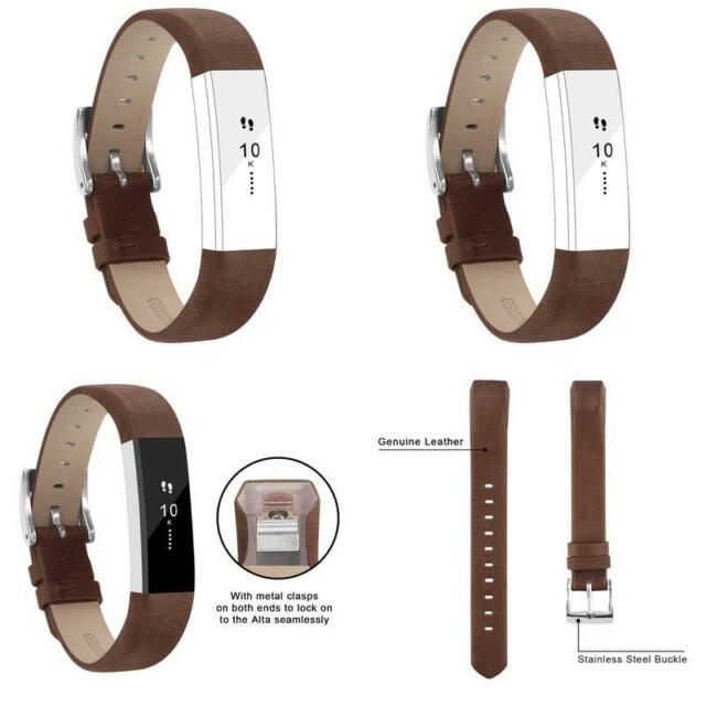 Fitbit Alta Strap Leather Band For Alta Hr Adjustable Replacement Bracelet