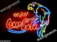 "19""X15"" Enjoy Coka Cola Soda Drink PARROT Beer Bar Neon Light Sign FREE SHIPING"