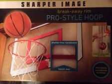 Sharper Image Shatter-free Backboard Steel Rim Basketball Hoop/Goal W/Mini Ball