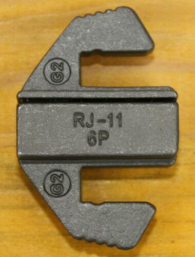 Westernstecker G2 Press-Profil-Einsatz RJ11-RJ12 für Crimp-Zange