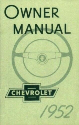 Other Car & Truck Manuals & Literature CHEVROLET 1952 Car Owner's ...