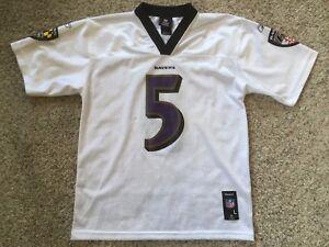 Details about #5 Joe Flacco White Baltimore Ravens Reebok Jersey Boys Sz Youth L14-16
