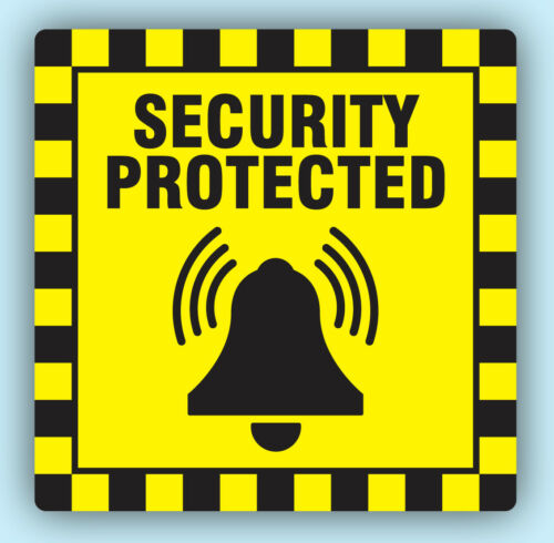 Shop Security Protected Stickers Sticky Swing Tag Labels Seals 4 Sizes