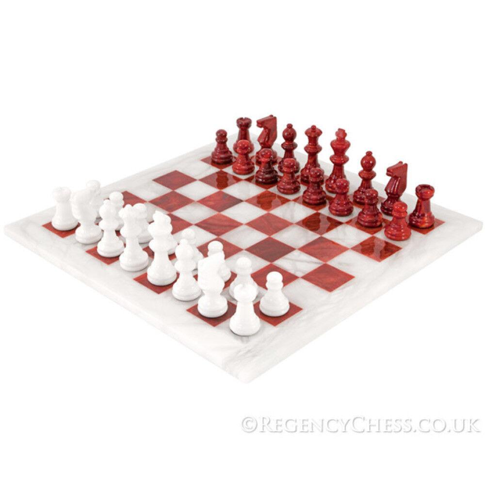 punto de venta Juego de ajedrez de alabastro blancoo y rojo 14.5 14.5 14.5 pulgadas  liquidación hasta el 70%