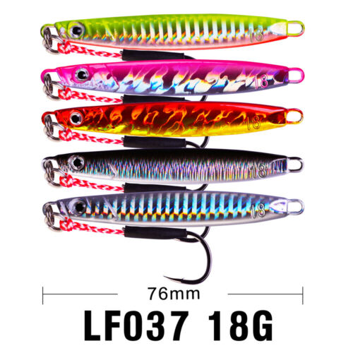 5pc Lead Metal Fish Jigs Baits 18-21-30g Fishing Lure 5 Color Bassbaits Jiggings