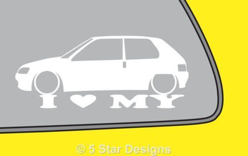 2x LOVE LOW peugeot 106 sticker for 106 1.6 XSI GTi Rallye XNXTXR XND LR177