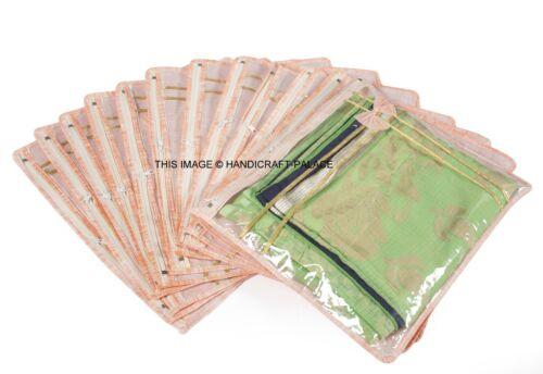 cover Bags 12 PC Oneside Clear Plastic Clothes Sari Saree Garment Storage