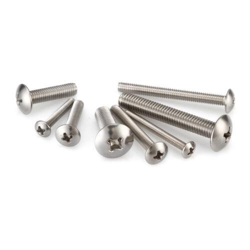 No.3,4,5,6 Metric Phillips Truss Head Machine Screws A2 Stainless Steel