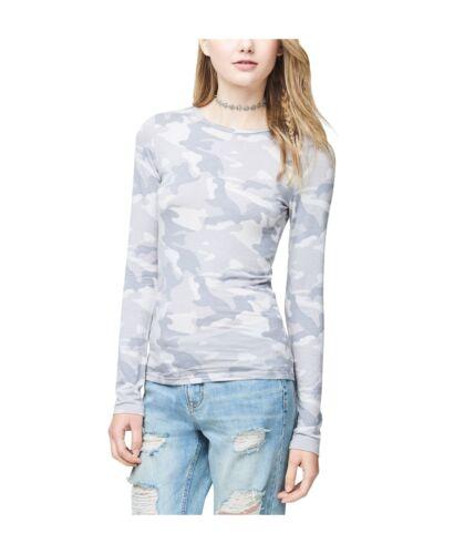 Aeropostale Womens Seriously Soft Camo Basic T-Shirt