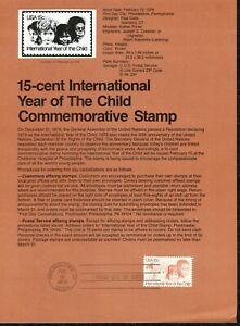 USPS-1979-First-Day-Issue-Souvenir-Page-15-cent-International-Year-of-the-Child