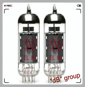 2x EL84 JJ-Electronic MATCHED COPPIA nuove selezionate NEW