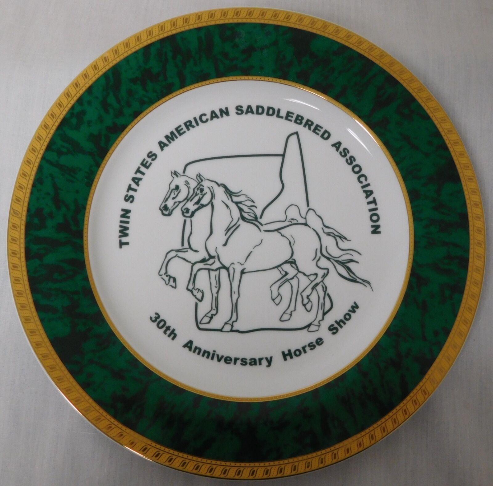 Asociación de dos Estados American Saddlebrojo Caballo 30TH Anniversary Show Placa