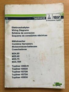 Elektroschaltplan Mähdrescher Deutz Fahr M34.80; M35.40 & Topliner - Borstel, Deutschland - Elektroschaltplan Mähdrescher Deutz Fahr M34.80; M35.40 & Topliner - Borstel, Deutschland