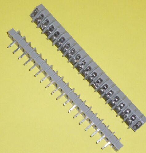 2 x barra di contatto anschlußleiste 18 Poli