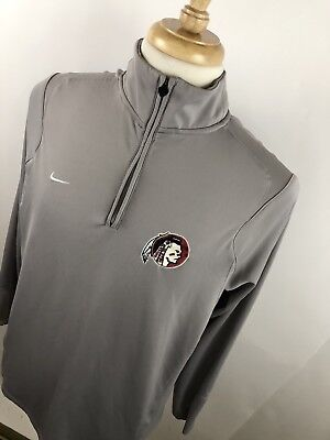 Activewear Jackets Activewear Shock-Resistant And Antimagnetic Nike Men's Florida Seminoles Quarter Zip Pullover Shirt Rear Vented Sz Large P7 Waterproof