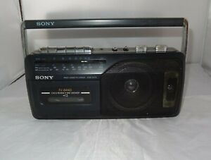 Sony CFM-145TV AM FM Cassette Player Portable Boombox * Only Radio Works