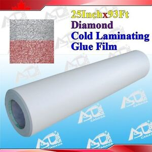 Diamond Laminating Film Pattern 0.69x31Yard 3Mil Adhesive Back Photo Picture