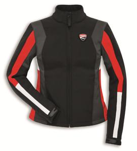 Ducati-Corse-Windproof-3-Windstopper-Damen-Jacke-Schwarz-Rot-Groesse-L