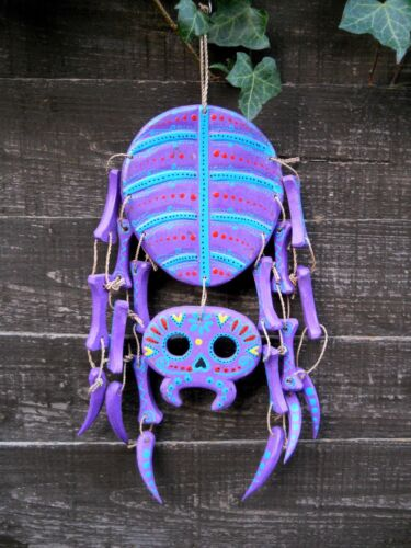 Garden Decoration Indonesia Funny Wooden Mobile Figure Spider 40 cm Home