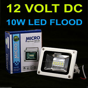 10W-MICRO-DC-12VOLT-white-WATERPROOF-LED-FLOOD-LIGHT-SMD-FOR-SOLAR-PLANT