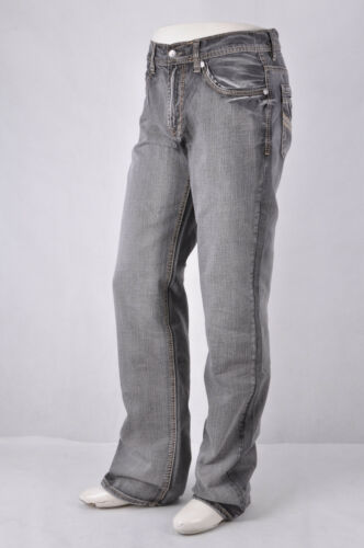 New Mens Axel Jeans Treadwell Vintage Dk Gray Relaxed Straight Leg Jeans WG20010