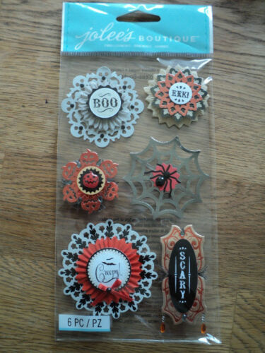 EK Success Jolee/'S BOUTIQUE Pegatinas grandes Tapete medallones dimensional BNIP