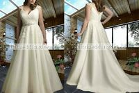 Custom Plus Size White/ivory Bridal Gown Wedding Dress 14-16-18-20-22-24++